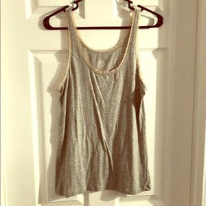 Gray tank top with lace